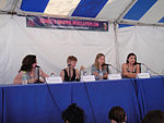 File:WeHo Book Fair 2010 - Lillian Diaz-Przbyl interviews Hope Larson, Ariel Schrag, and Esther Pearl Watson at the Femme Fantastic panel (5028033483).jpg