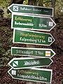 Wegweiser zwischen Kelbra und Kyffhaeuser (Kyffhaeuser-Denkmal 1,0 km).jpg