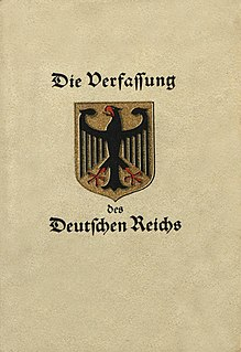 Weimar Constitution German constitution of 1919