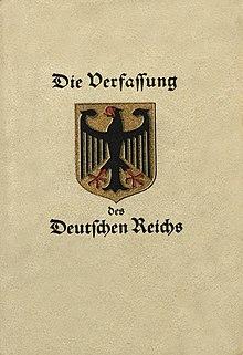 Resultado de imagen para constitución de alemania