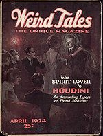 Weird Tales Cover for April 1924