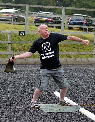 Wellie wanging - Welly throwing