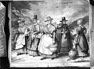 Welsh women peasants (print)