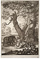 Wenceslas Hollar - The foresters and the bear (State 2).jpg