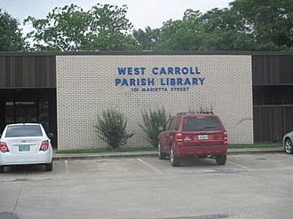 West Carroll Parish, Louisiana - The West Carroll Parish Library in Oak Grove