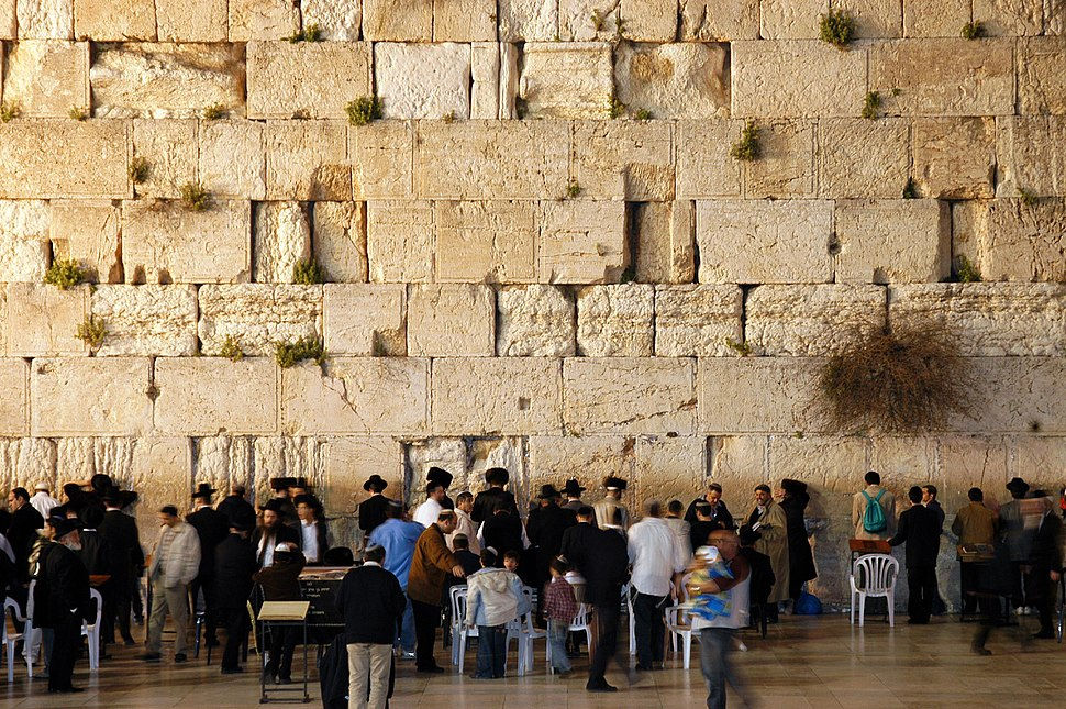 Western wall jerusalem night