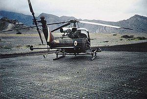 Westland Scout - 8 Flight Scout AH.1 at Habilayn, Radfan 1967