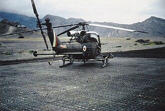 Westland Scout - 8 Flight Scout AH.1 at Habilayn, Radfan 1967