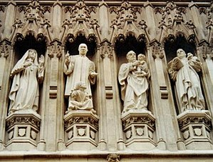 Martyr - From the Gallery of 20th Century Martyrs at Westminster Abbey—l. to r. Mother Elizabeth of Russia, Rev. Martin Luther King, Archbishop Oscar Romero and Pastor Dietrich Bonhoeffer