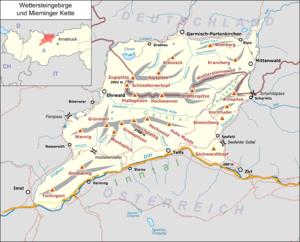 Zugspitze (Wetterstein Mountains and Mieming Range)