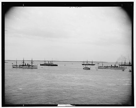 The White Squadron at Hampton Roads, 1889