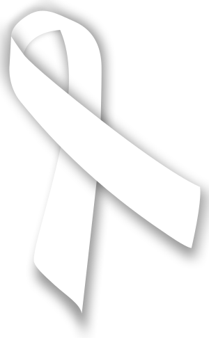 A white ribbon to commemorate the National Day...