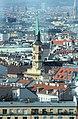 Wiener Prater, Riesenrad, Blick zur Johann-Nepomuk-Kirche.JPG