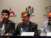 Wikimanía 2015 - Day 2 - Press Conference - LMM - México D.F. (3).jpg