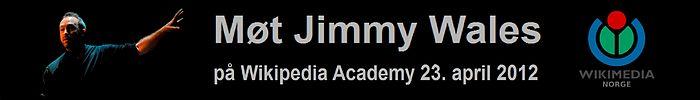 Wikipedia Academy 2012 Oslo JWales annonse3.jpg