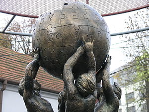 Wikipedia - Wikipedia Monument in Słubice, Poland