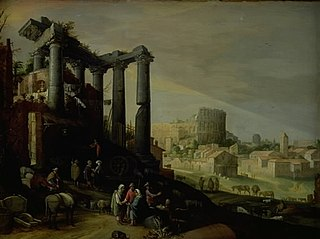 Landscape with a View of Campo Vaccino in Rome