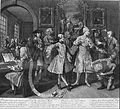 William Hogarth - A Rake's Progress, Plate 2, Surrounded by Artists and Professors - Google Art Project.jpg