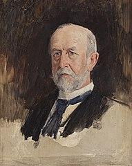 Portraitstudie Wilhelm von Wedell-Piesdorf, Minister des königlichen Hauses