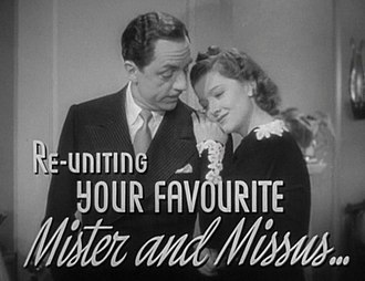 Nick and Nora Charles - Image: William Powell and Myrna Loy in Another Thin Man trailer