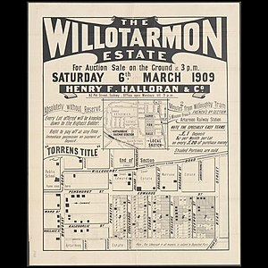 Artarmon, New South Wales - Poster for sale of land in Artarmon, 1909