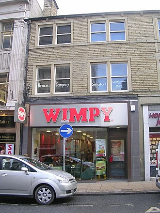 Wimpy (restaurant) - A Wimpy restaurant in Huddersfield, West Yorkshire