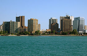 Skyline of Windsor seen from Detroit