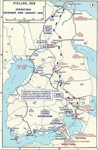 Military history of Finland during World War II - Image: Winterwaroverview