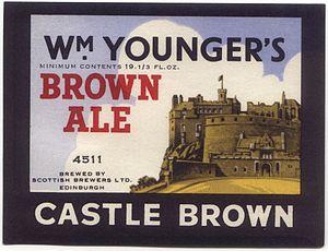Brown ale - An Edinburgh brewer's brown ale label