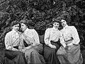 Women, garden, fashion, tableau, fondness, friendship, skirt, tranquillity, lady, blouse Fortepan 18208.jpg