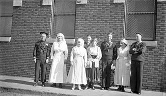 Nurse uniform - Two women in nurse uniforms