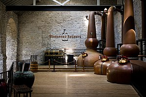 Woodford Reserve - The still room, where copper stills are used to produce spirits from the mash.