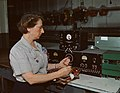 Working with the electric wiring at Douglas Aircraft Company, Long Beach, Calif.jpg