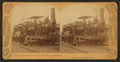 World's Columbian Exposition. The first locomotive, and train, by Barker, George, 1844-1894.png