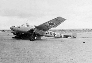 Wrecked Me 110 of ZG 26 in North Africa c1942.jpg