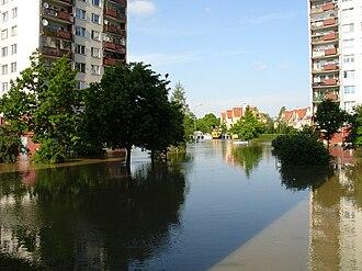 2010 Central European floods - Wrocław's flooded Kozanów district