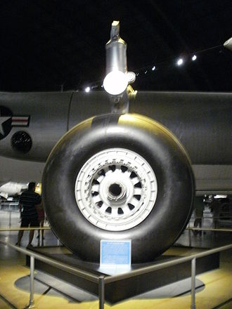 Convair B-36 Peacemaker - Single-wheel main gear design at the National Museum of the United States Air Force