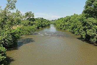 Yadkin River - The Yadkin River at Elkin, North Carolina, in 2011.