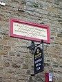 Yatefield Social Club, Stone and sign - geograph.org.uk - 876705.jpg