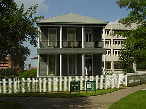 Jack Yates - The Jack Yates House, originally in the Fourth Ward and now residing in Sam Houston Park