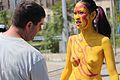 Yellow body paint 03 at Coney Island Mermaid Parade 2013.jpg