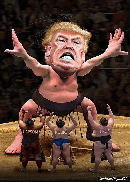 File:Yokozuna Trump Towers Over His Challengers (23603329032).jpg