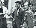Yoshishige Saito and two men Shinchosha 1960-9.jpg