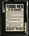 Young men of the Bahamas. ... Enlist to-day LCCN2003675350.jpg