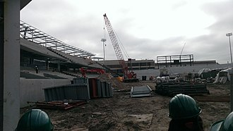 Yulman Stadium - Image: Yulman Stadium construction February 2014 2