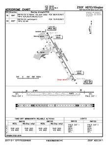 Схема аэропорта CAAC