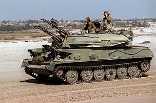 Self-propelled anti-aircraft weapon Mobile vehicle with a dedicated anti-aircraft capability