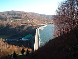 Solina Dam from above