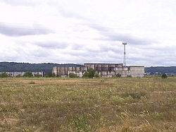 Remains of never completed Żarnowiec Nuclear Power Plant