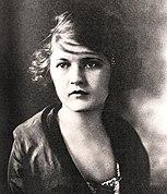 Valokuvamuotokuva Zelda Fitzgeraldista